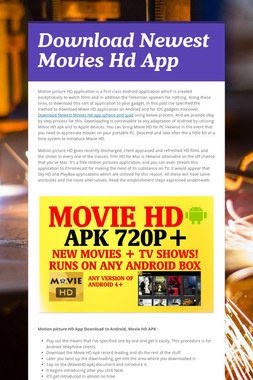 Download Newest Movies Hd App