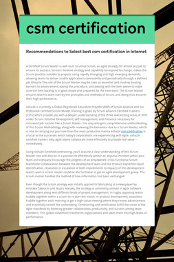 csm certification