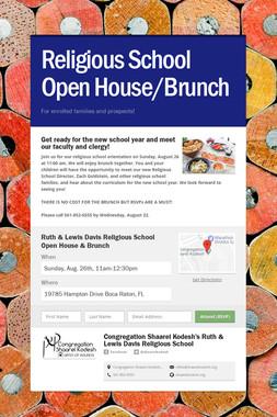 Religious School Open House/Dinner
