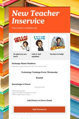 New Teacher Inservice