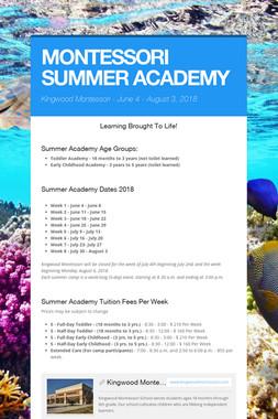 MONTESSORI SUMMER ACADEMY