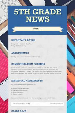 5th Grade News