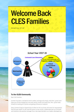 Welcome Back CLES Families