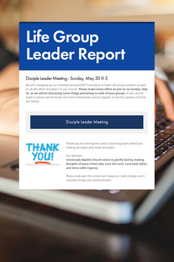 Life Group Leader Report