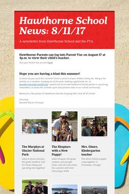 Hawthorne School News: 8/11/17
