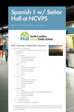 Spanish 1 w/ Señor Hall at NCVPS