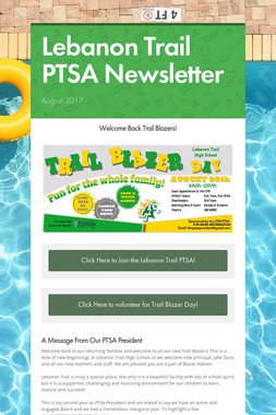 Lebanon Trail PTSA Newsletter