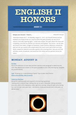 English II Honors