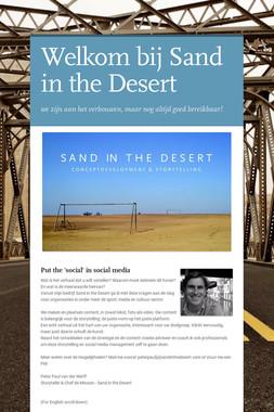 Welkom bij Sand in the Desert