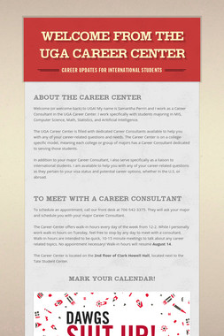 Welcome from the UGA Career Center