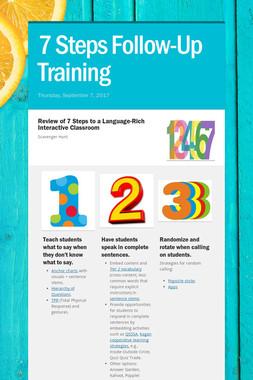 7 Steps Follow-Up Training