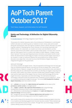 AoP Tech Parent October 2017