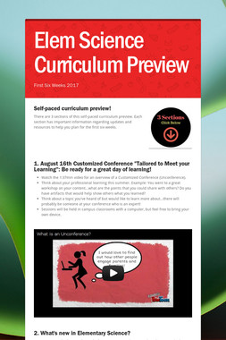 Elem Science Curriculum Preview