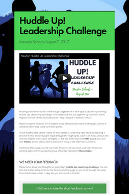 Huddle Up! Leadership Challenge