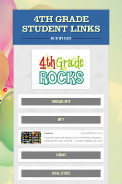 4th Grade Student Links