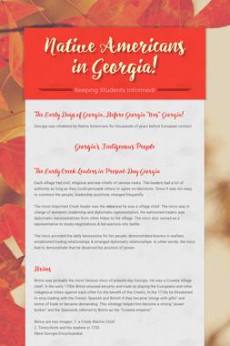 Native Americans in Georgia!