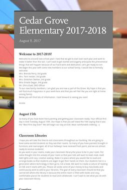 Cedar Grove Elementary 2017-2018