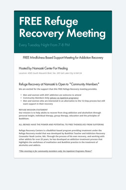 FREE Refuge Recovery Meeting