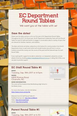 EC Department Round Tables
