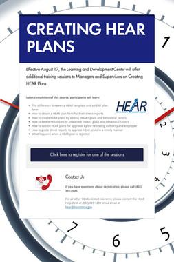 CREATING HEAR PLANS