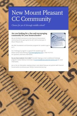 New Mount Pleasant CC Community