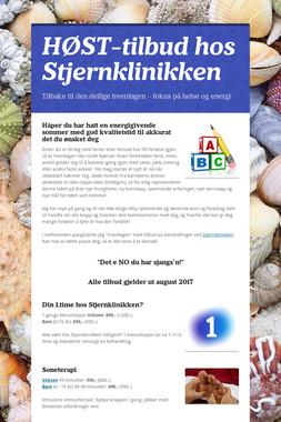 HØST-tilbud hos Stjernklinikken