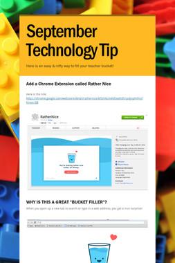 September Technology Tip