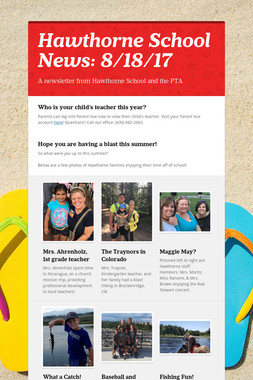 Hawthorne School News: 8/18/17