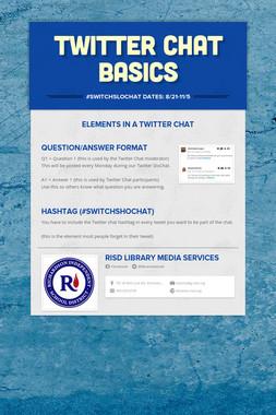 Twitter Chat Basics