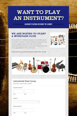 Want to play an instrument?