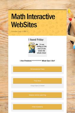 Math Interactive WebSites