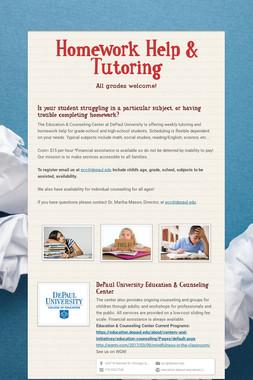 Homework Help & Tutoring