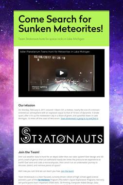 Come Search for Sunken Meteorites!
