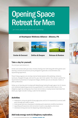 Opening Space Retreat for Men