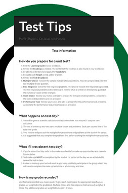 Assessment Tips