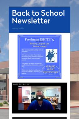 Back to School Newsletter