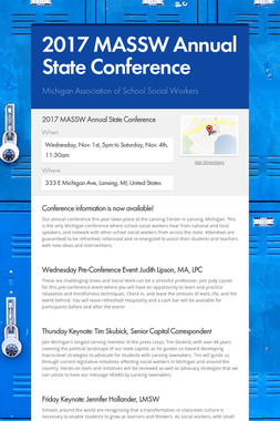 2017 MASSW Annual State Conference