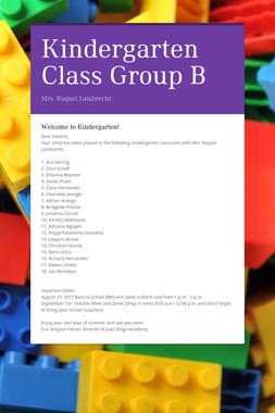 Kindergarten Class Group B