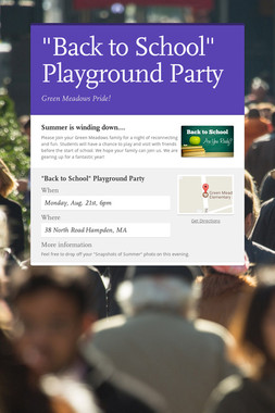 """Back to School"" Playground Party"