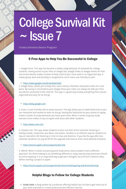 College Survival Kit ~ Issue 7