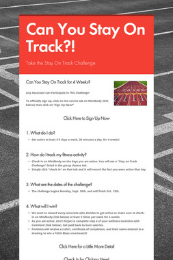 Can You Stay On Track?!