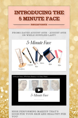 Introducing the 5 Minute Face