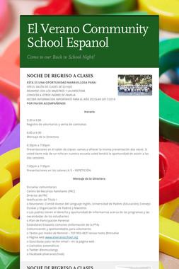 El Verano Community School Espanol