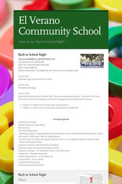 El Verano Community School