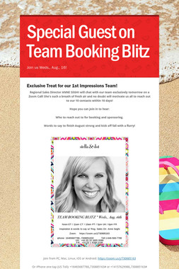 Special Guest on Team Booking Blitz