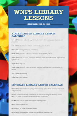 WNPS Library Lessons