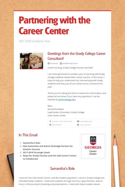 Partnering with the Career Center