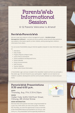 ParentsWeb Informational Session