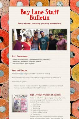 Bay Lane Staff Bulletin