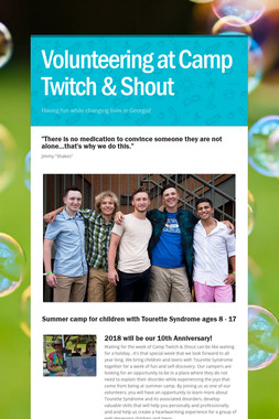 Volunteering at Camp Twitch & Shout